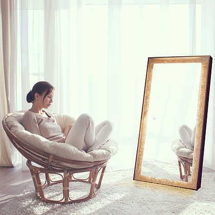 lighted full length mirror