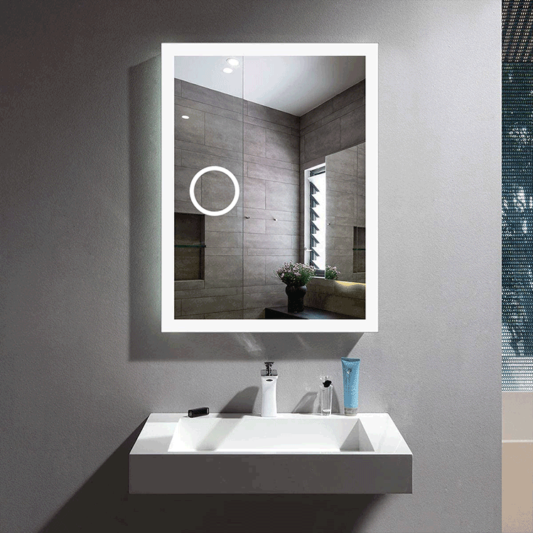 Magnifying led mirror