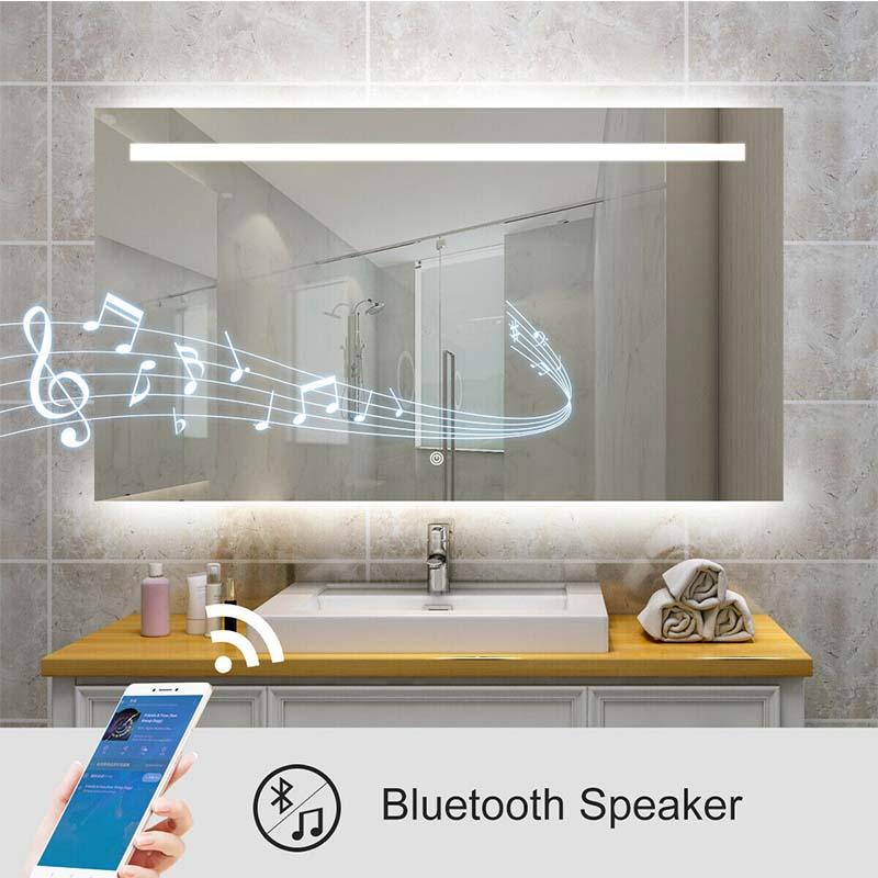 Bluetooth bathroom mirrors